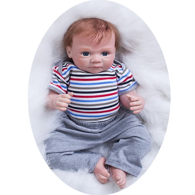 Wholesale Price 20 Inch Reborn Baby Dolls Newborn Silicone Boy Babies Cloth Body Lifelike Doll Toy Kids Birthday Xmas Gift elephone w1 bluetooth v3 0 0 49 oled smart bracelet watch w call reminder stopwatch rose gold