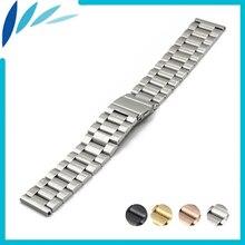 Stainless Steel Watch Band 18 20 22 23 24mm for Casio BEM 302 307 501 506 517 EF MTP Quick Release Strap Loop Belt Bracelet