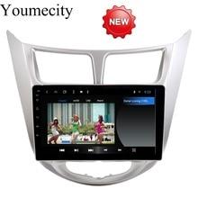 Youmecity lettore dvd Dell'automobile per Hyundai Solaris radio video player di navigazione IPS Glonass + Gps + Android 8.1 + Octa core + 32G ROM + IPS + RDS