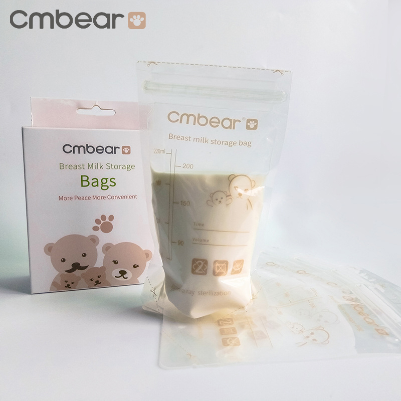 30/60PCS Cmbear Baby Food Storage Baby Feeding Portable Breast Milk Storage Bags To Store Mother Milk BPA Free Milk Freezer Bags