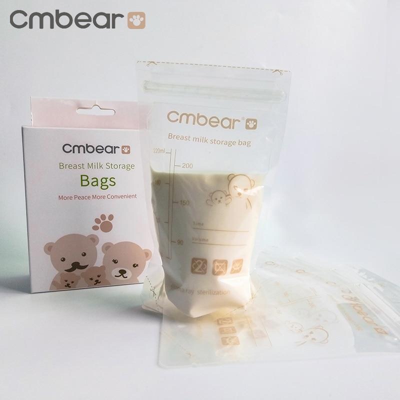 30/60PCS Cmbear Baby Food Storage Baby Feeding Portable Breast Milk Storage Bags To Store Mother Milk BPA Free Milk Freezer Bags