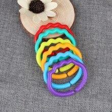 24 шт. Детские Кольца для прорезывания зубов красочные кольца радуги коляска подарок украшения игрушки# HC6U# Прямая поставка
