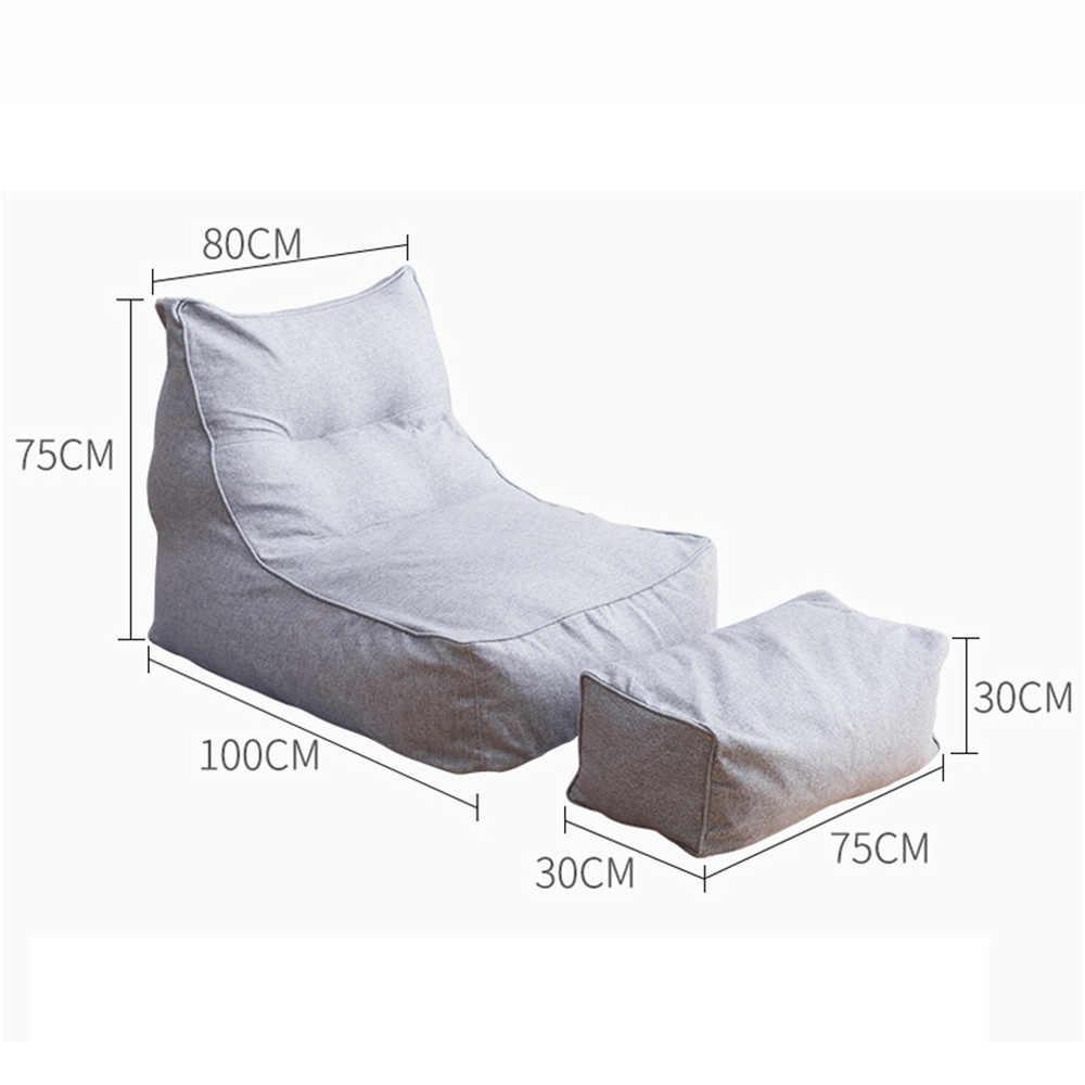 2 шт./компл. большое Кресло-мешок комбинация покрывало на диван стулья без заполнения Крытый ленивый шезлонг для взрослых детей простой дизайн
