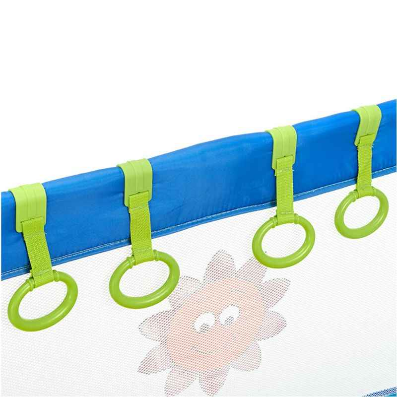 1PC Baby Bed Portable Crib Stand Up Multi-color Wake Up Hook Pull Ring Foldable Pendants Toys