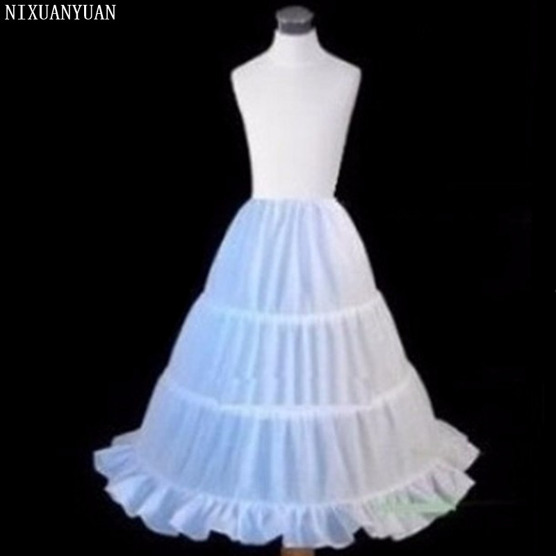 2020 Top Fashion Child Petticoat For Flower Girl Dresses Short 3 Ring Puffy Crinoline Kids Underskirt Cheap Price Promotion