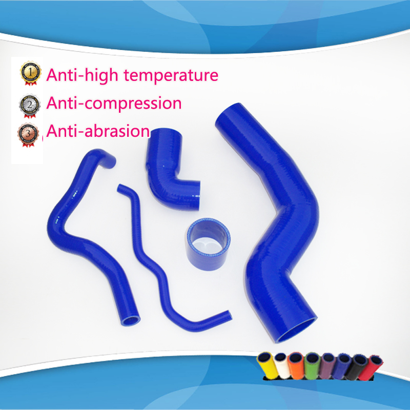 ФОТО 5 pcs Silicone Turbo Boost Hose Kit for GOLF JETTA MK4 Beetle Bora AUDI A3 TT 1.8T