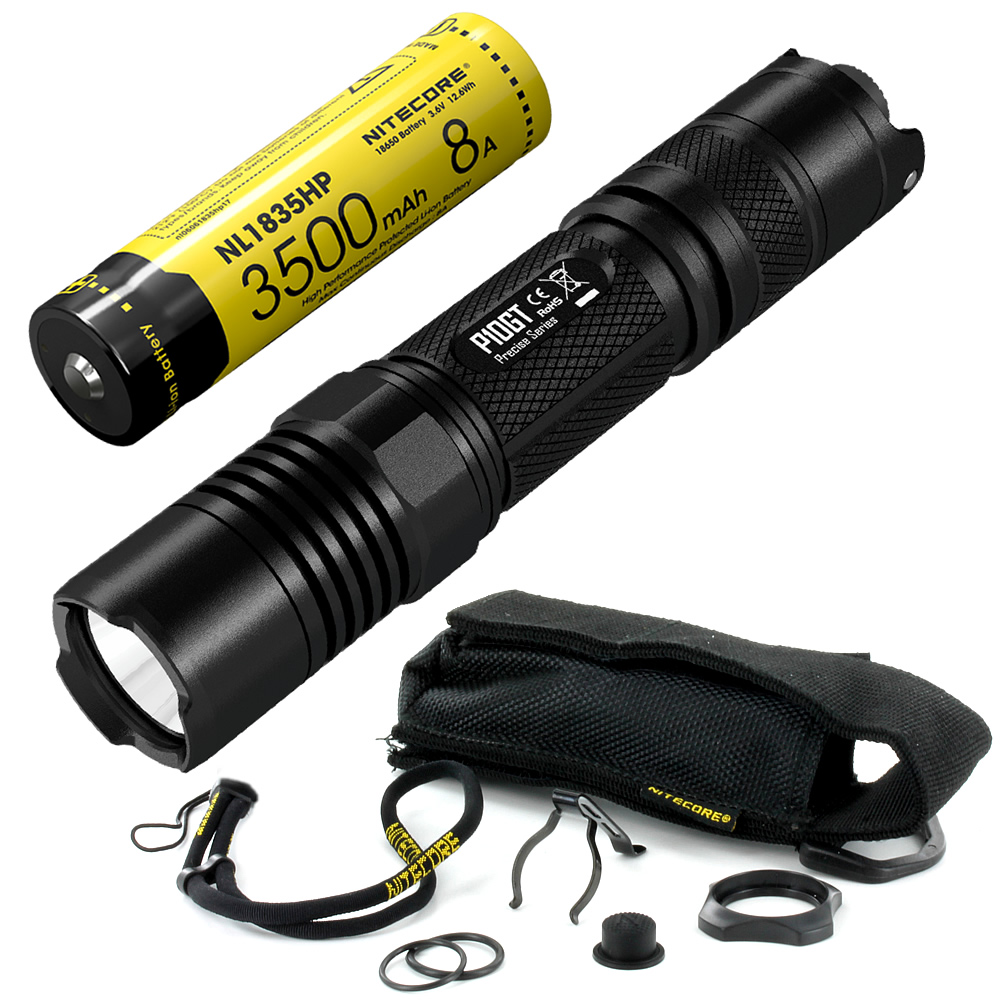 Free Shipping Nitecore P10GT 18650 rechargeable Battery 900LMs CREE LED Tactical Flashlight Outdoor Aluminum Alloy Waterproof