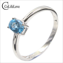 HOT SALE Guarantee 100% natural topaz fashion crystal ring 925 Solid Sterling Silver engagement ring for girl topaz ring