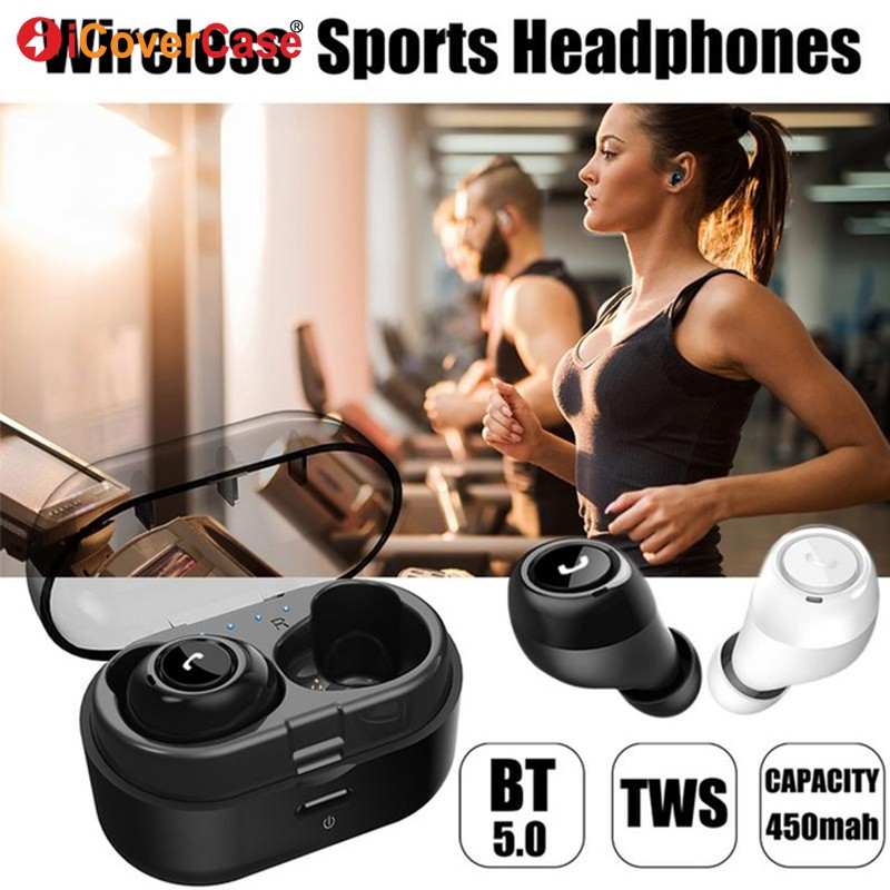 Twins Bluetooth Earphone With Charging Box Wireless Headphone With Mic For Samsung Galaxy S10 5G S10e S10 Plus S9 S8 S7 A50 A70