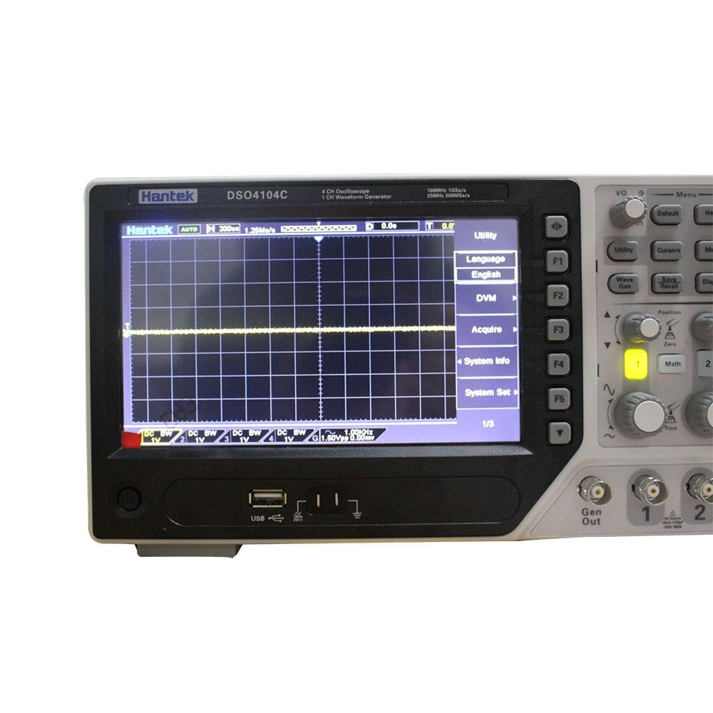 Image 2 - Hantek DSO4104C Digital Storage Oscilloscope 4 Channels 100Mhz PC Osciloscopio Portatil 7Inch Lcd Display USB Oscilloscopesusb oscilloscopestorage oscilloscopedigital storage oscilloscope -