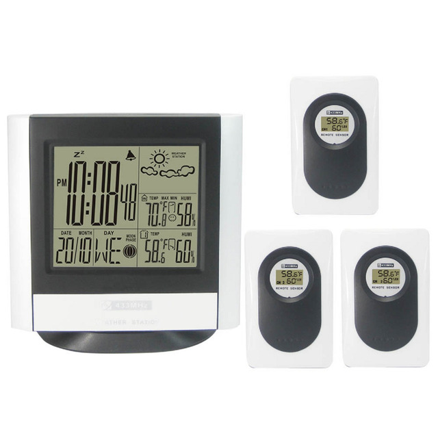 433MHz Wireless Weather Station with Indoor Outdoor Digital ...