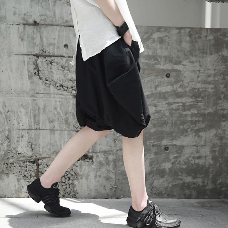 New white Color Black Loose Kzh1500 Korea Solid Wide Summer Female 2018 Leg Knee Casual Kzh1500 length Waist Pants Women xitao Elastic R0wtqt