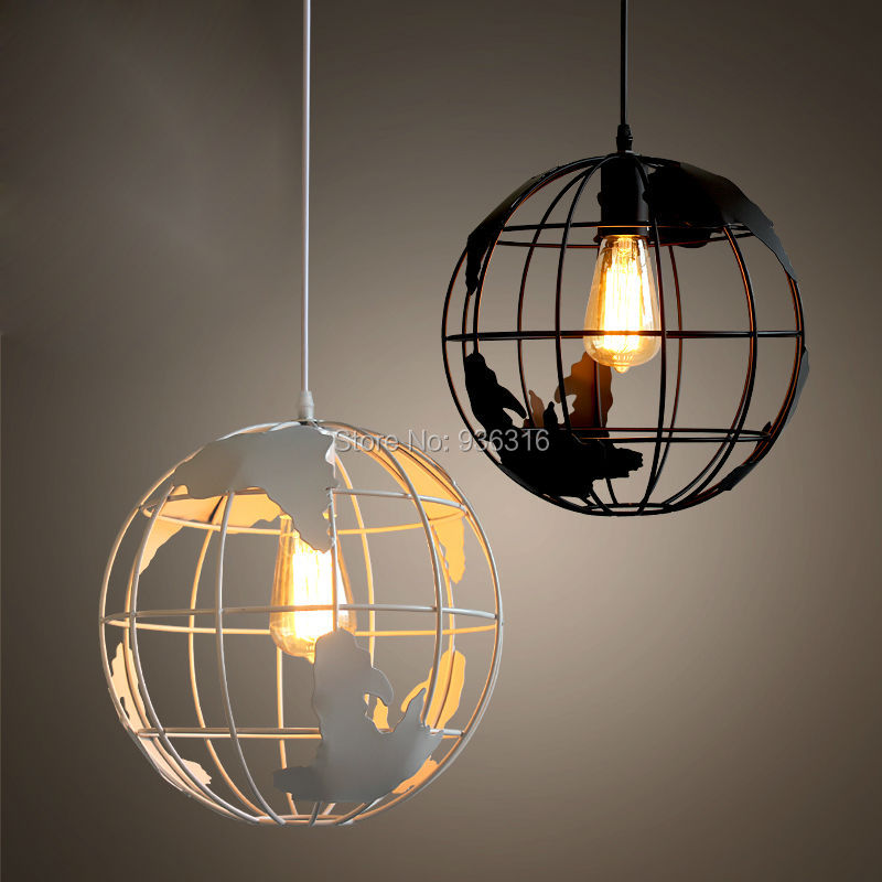 Modern Global Earth Living Room Pendant Lamps Restaurant suspension luminaire Home Lighting