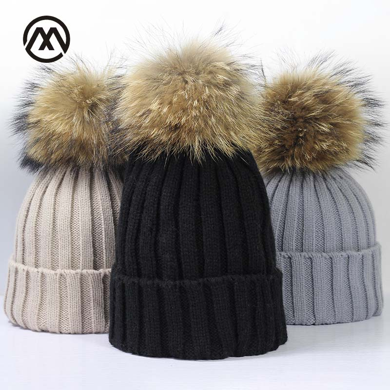 Winter Brand Female Ball Cap Pom Poms Winter Hat For Women Girl 'S Hat Knitted Beanies Cap Hat Thick Women Skullies Beanies