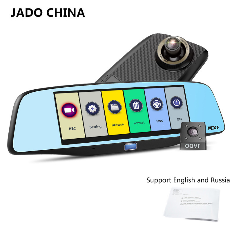 JADO D680S Car Dvr Camera Full HD 1080P Car Dvrs Dual Lens  Recorder 6.86' Car Camera Dash cam ADAS Rearview Mirror Registrar jado d680s автомобильный видеорегистратор