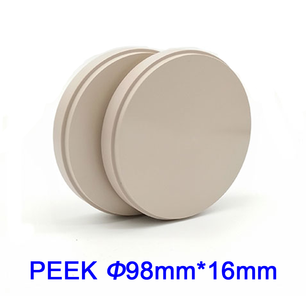 CADCAM Materials PEEK Polymer 16mm Thick for Dental Restorations CADCAM Materials PEEK Polymer 16mm Thick for Dental Restorations