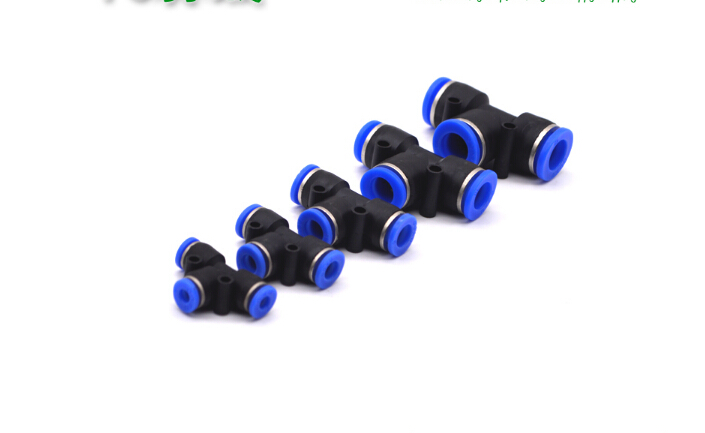 Free shipping PE-04 PE-12 Pneumatic 4mm to 4mm Tube 3 Way T Air Fitting Hose Joint Pipe Connector Joiner Plastic Union Tee PE-4 7 9mm straight connector plastic fitting barbed connector material pp hose pvc tube connection joiner fitting aquarium fish tank