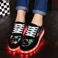 Children Shoes with Led  Light Up Luminous Glowing Sneakers Casua shoes lnfantil Female girl shoes led shoes