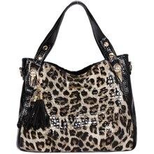 цены luxury handbags women bags designer Fashion Leopard women leather handbags tassel crossbody shoulder bag women messenger bags