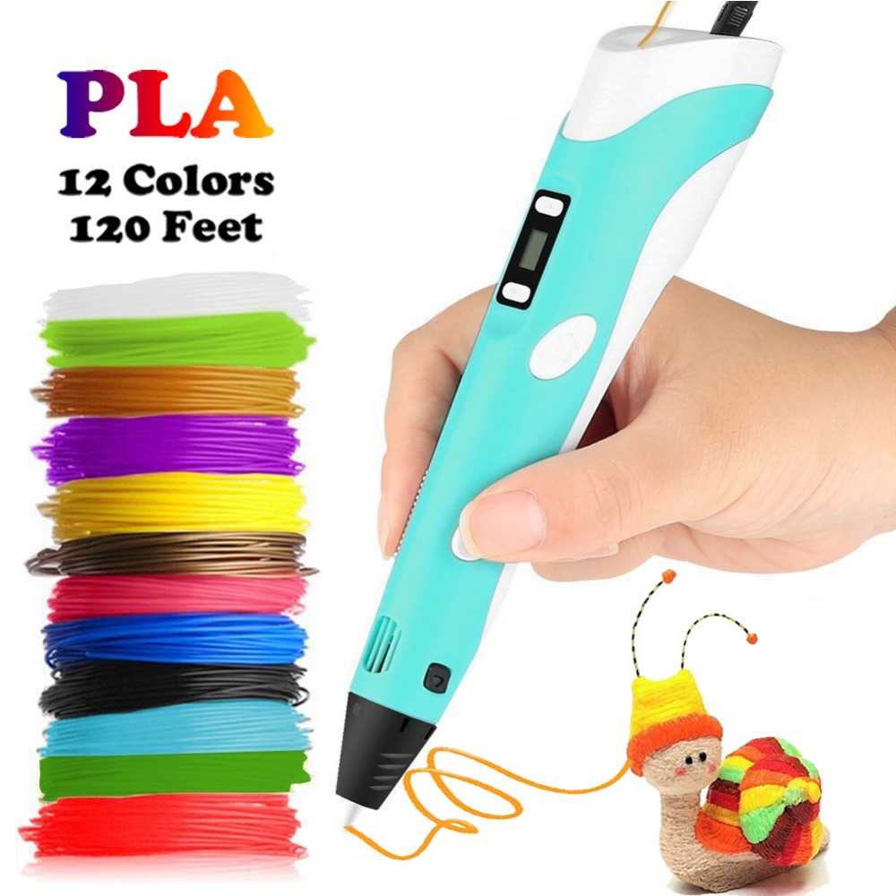 Dikale 3D Printing Pens 12V 3D Pen Pencil 3D Drawing Pens with Free 36m PLA Filament For Kids Child Education Tools Hobbies Toys