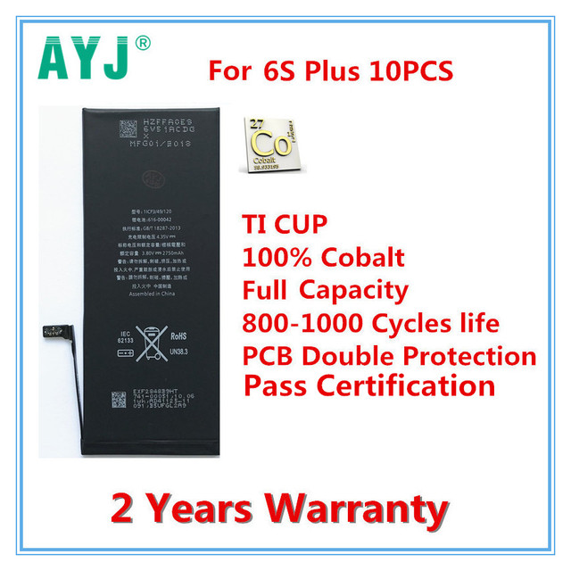 10pcslot Ayj Original Mobile Phone Battery For Iphone 6s Plus Real