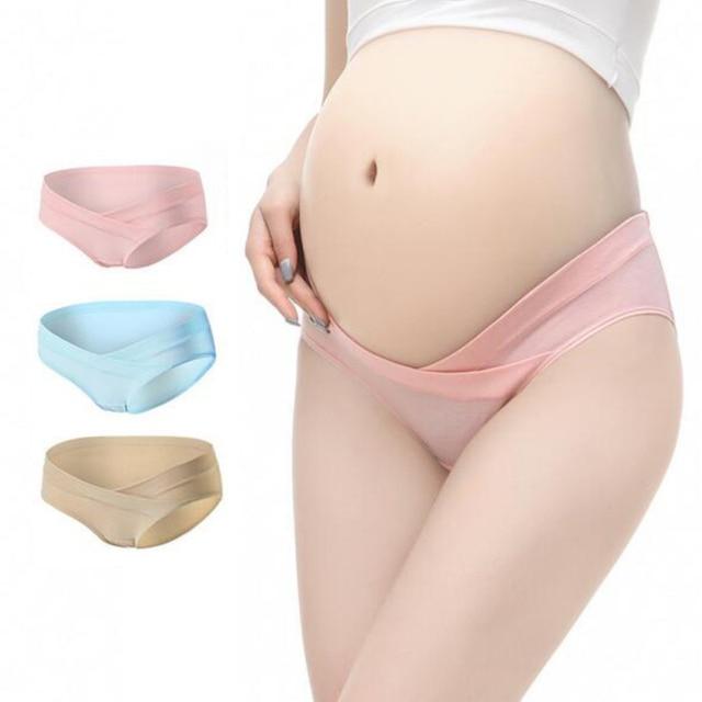 2ca450f2ac5ab 3Pcs Lot Cotton Low Waist Maternity Underwear Pregnant Panties Comfy  Maternity Lingerie Pregnancy Briefs Women Clothes Plus Size