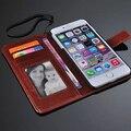 De cuero de lujo soporte de la carpeta con marco de fotos bolsos del teléfono caso de la cubierta para Apple iPhone 6 más 5.5 pulgadas