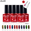 6 Colors/set Magnetic Cat Eye Gel Nail Gel Nail Polish LED UV Gel Long-lasting Soak-off UV Fingernail Gel Nail Varnish 10Ml-SNK6