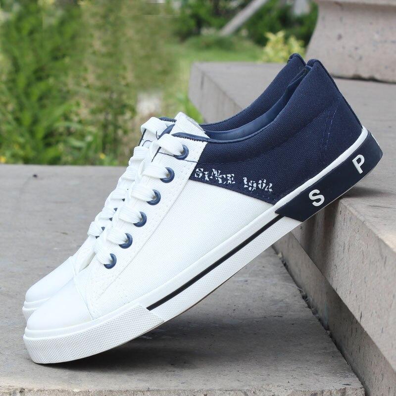 2017 Nuevo Llega El Fashion Low Hombres Clásicos Zapatos de Lona Unisex Plana Mo