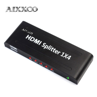 AIXXCO HDMI Splitter 4 Way 1080P HD Hub Smart Splitters Box HDMI1 In 4 Out 3D