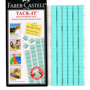 Tack It Multipurpose Adhesive Clay Reusable Adhesive for Home Office School Removable Adhesive Putty Tabs 75g 120pcs Blue