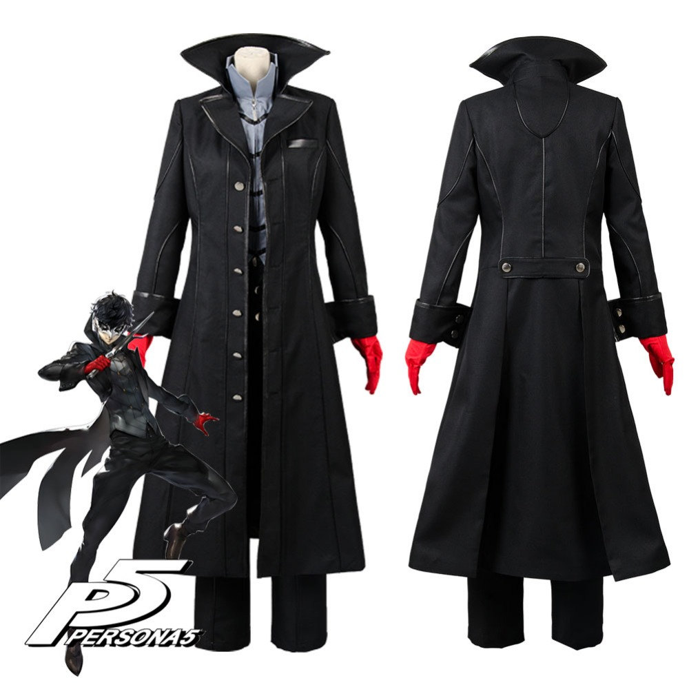 Cosplay Costume Persona 5 Joker Leading Character Hero Cosplay Costume With Red Gloves Adult Men Halloween
