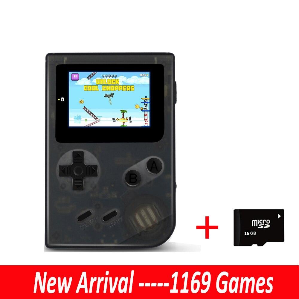 Mini portable rétro nostalgique 2 pouces portable rétro mini garçon lecteur vidéo de poche console de jeu joueurs intégrés 1169 jeux 32G SD