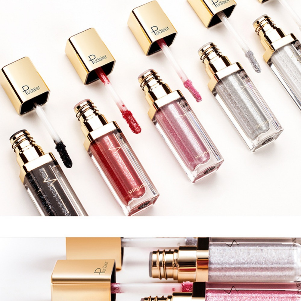 Glitter Shimmer Eyeshadow Makeup Cosmetics 18 Colors Liquid Matte Eye Shadow Lasting Easy to Wear Make up