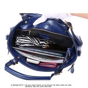 Image 5 - Funmardi高級ハンドバッグ女性のバッグデザイナー分割革バッグ女性ハンドバッグブランドトップハンドルバッグ女性ショルダーバッグWLHB974