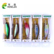 Hengjia 10pcs 8cm 6.3g hard plastic minnow fishing lures wobblers pike artificial crankbaits pesca swim baits tackles