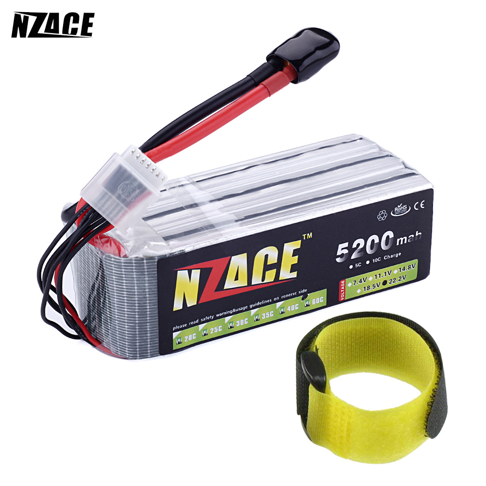 NZACE POWER 6S lipo battery 22.2v 5200mah 60c rc helicopter rc car rc boat quadcopter remote control toys Li-Polymer battey mos 6s lipo battery 22 2v 1300mah 35c for rc helicopter rc car rc boat quadcopter li polymer battey free shipping