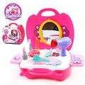 Plástico juegos de imaginación niños niños simulación tocador Playset juguetes juego de muebles para las niñas regalos