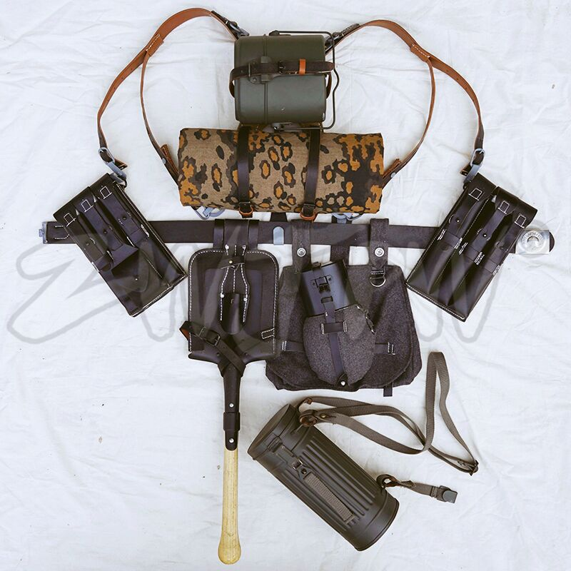 GERMAN EQUIPMENT MP40/P38 LEATHER FIELD GEAR PACKAGE EQUIPMENT COMBINATION