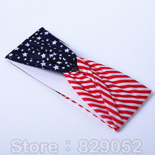 American Flag Hairbands for Women Star Striped Turban Headbands Head Band USA Holiday Girls Hair Accessories 4th of July