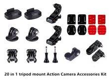 20 in 1 Tripod mount kit di Accessori per Nikon KeyMission 360 170 80 Deriva Innovazione Stealth 2 HD Fantasma Fantasma  S DJI Osmo Action