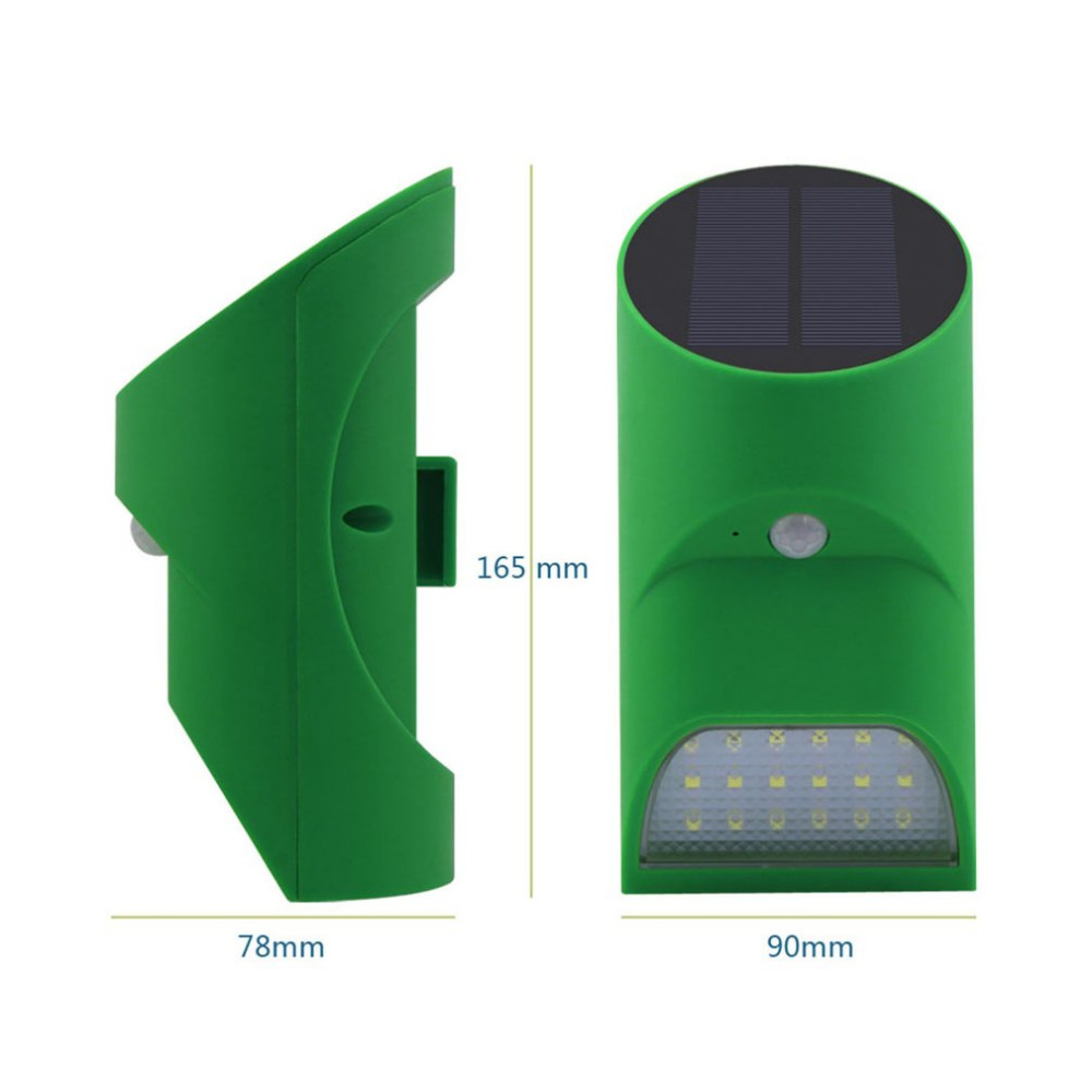 Waterproof Bamboo Motion Sensor+Light Control Solar Light Infrared Tube Light Wall Lamp Outdoor LED Lighting Quality