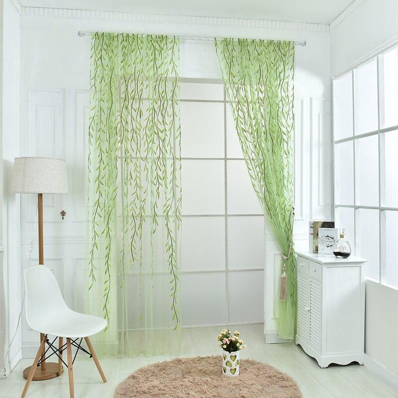 Beauty Scarf Sheer Voile Door Room Tulle Window Curtain Drape Panel Valances AA