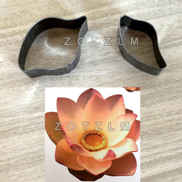 2 Pcsset Lotus Flower Shaped Stainless Steel Cookie Cutters Bread