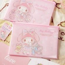 Hello Kitty Cute Cartoon Ziplock Bag Makeup Bag Portable Waterproof Travel Admission Package PP Storage Bag Cosmetic bag B22