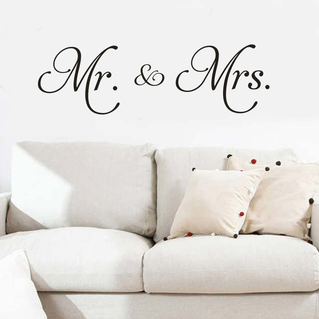 Mr Mrs Removable Art Vinyl Mural Home Room Decor Wall Stickers Wall Stickers For Baby Rooms Kids Room Decoration Stickers