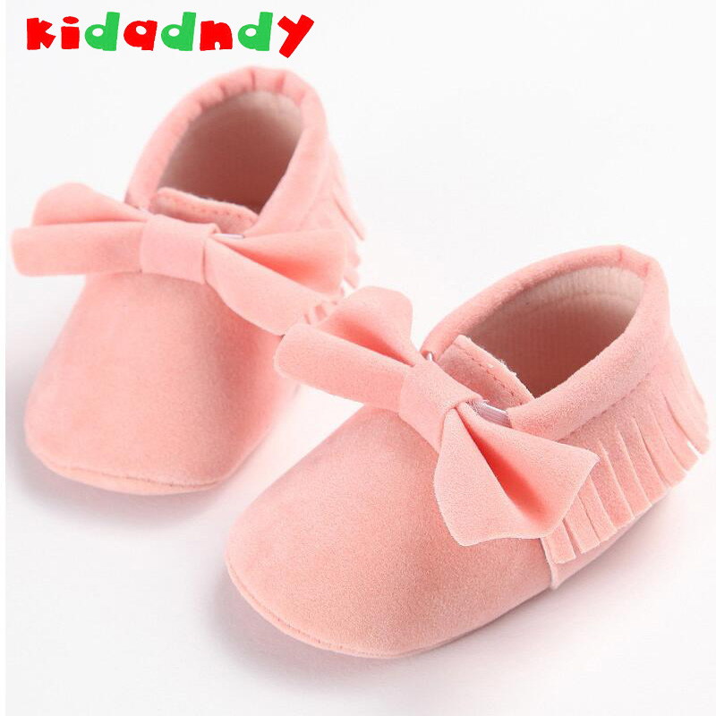 Spring New Female Baby Shoes Soft Bottom 0-1 Years Fringed Leisure Foot Baby Shoes Toddler Shoes WMC214