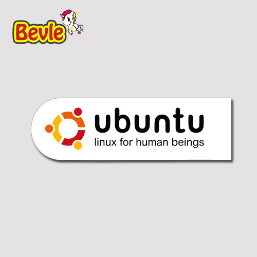 Bevle 1803 Ubuntu Linux Sign Stickers Bomb Geezer Notebook Waterproof Tide 3M Sticker Skateboard Car Graffiti DIY