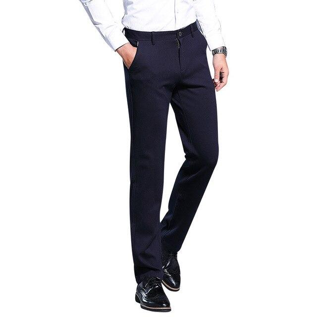 2019 Men Suit Pants Men's Slim Fit Dress Pants Office Work Wear Trousers Men Plus Size Business Classic Men's Formal Pants