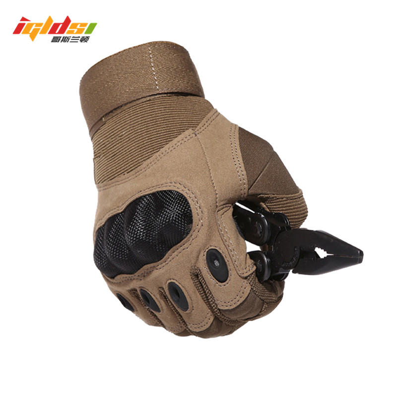 IGLDSI Tactical Army Airsoft Paintball Shooting Gloves Full Finger Military Men's Gloves Armor Protection Shell Gloves S-3XL